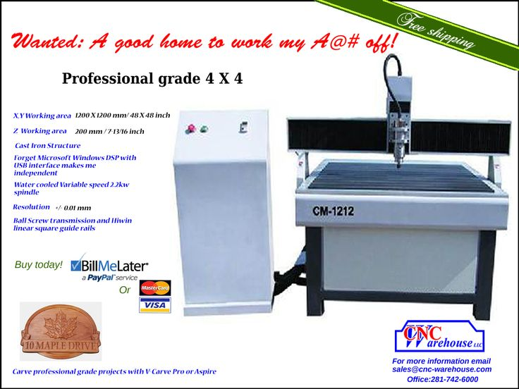 CM-1212 Professional grade 4 X 4. Just add creativity and your in business.