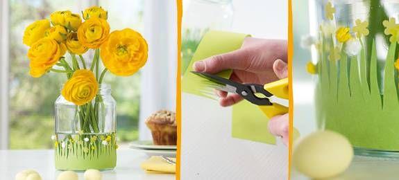 Diy Blumenwiese Fur Die Vase Ze Basteln 2 18 Pinterest