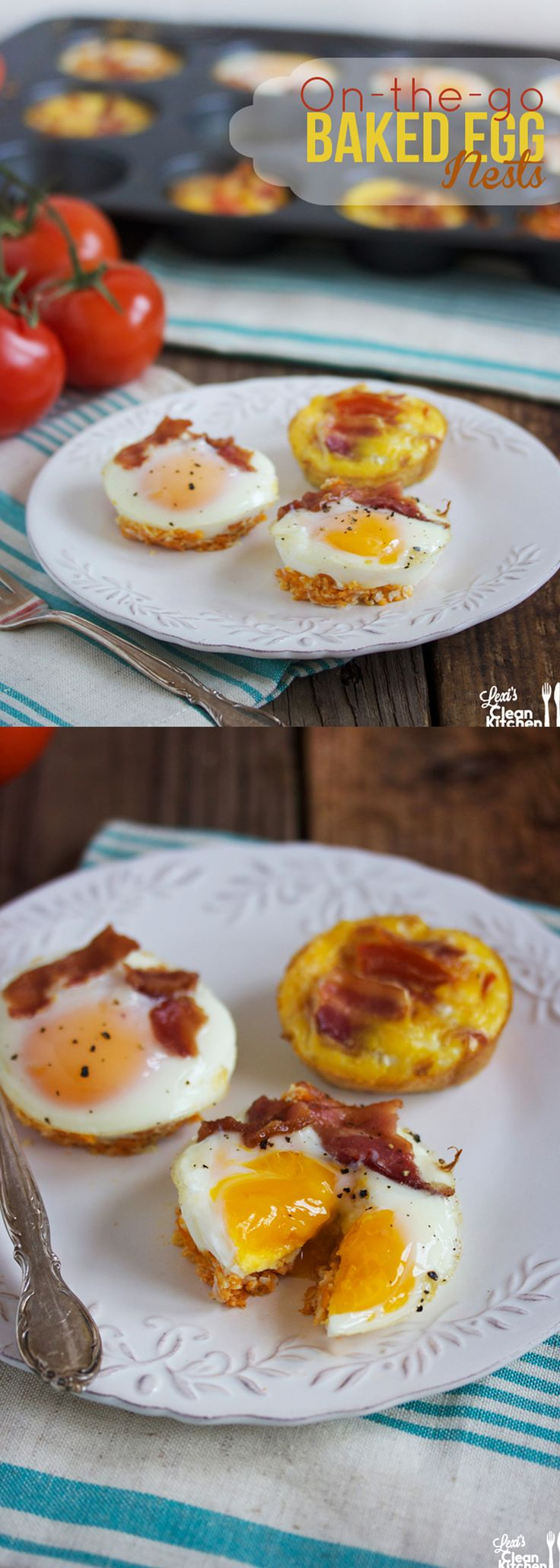 On-The-Go Baked Egg Nests {Two Ways}