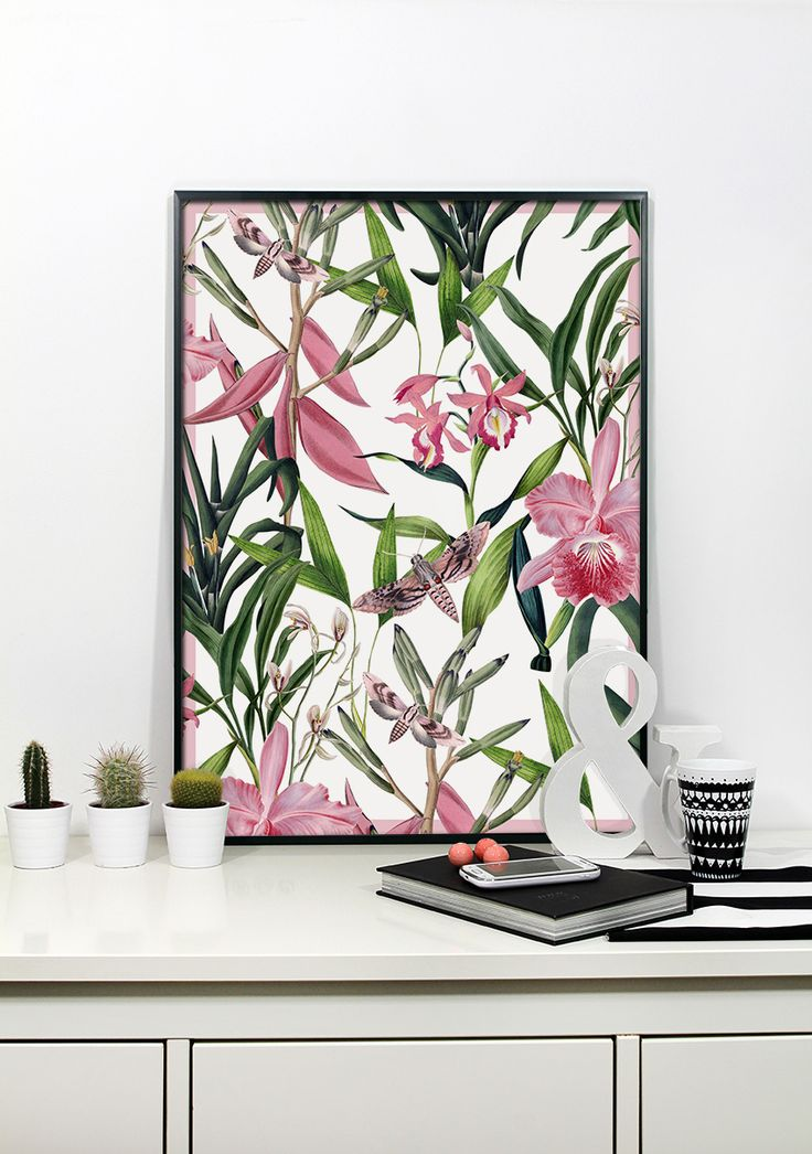 exotic by PRINTLOVE, flover power, jungle, pink flower www.printlove.pl