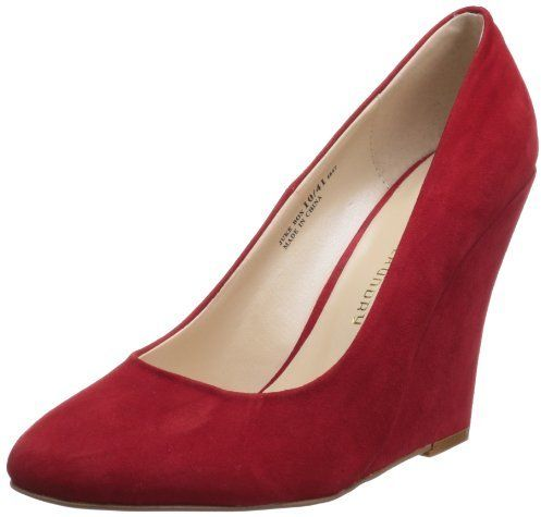 $41, Red Suede Wedge Pumps: Chinese Laundry Juke Box Wedge Pump. Sold by Amazon.com. Click for more info: https://lookastic.com/women/shop_items/134419/redirect