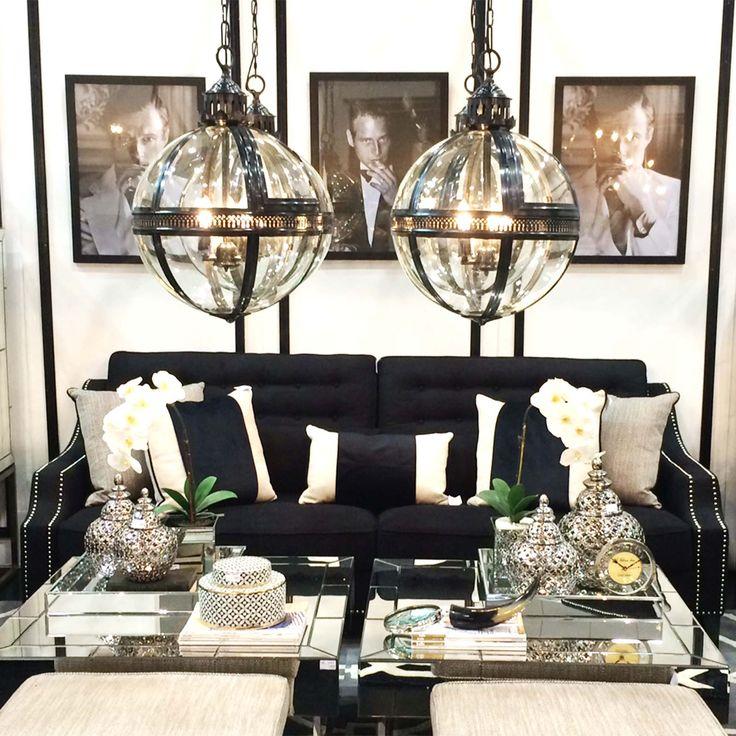 Showing some monochromatic love today #cafelightingandliving #monochrome #blackandwhite #interiors #interiorandhome #livingroom