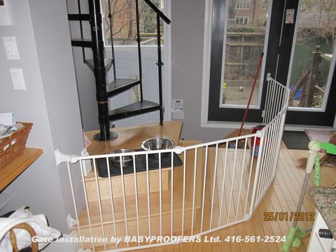 Baby Gate For Spiral Stairs. #childproofing