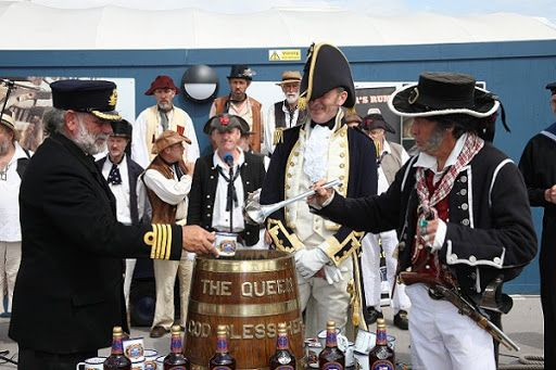 """July 31 is """"Black Tot Day"""" in the U.K., commemorating the 1970 rule that abolished the British Navy's daily ration of rum for sailors. The ration was referred to as a """"daily tot"""" and dwindled from half a pint twice a day when it was originally introduced in 1655 to 70 milliliters once per day at the time it was abolished."""