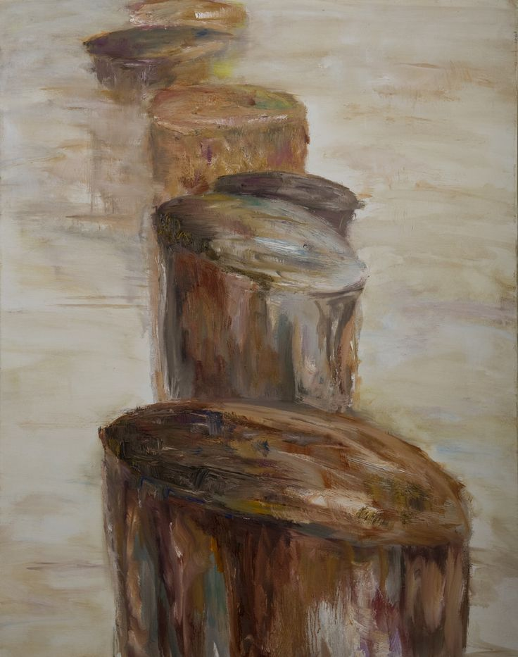Paalhoofden. Timber groyne. Oilpainting on linnen. Size: 80 x 60 cm. FOR SALE: € 425,00