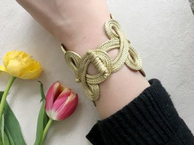 Easy Statement Chinese Knot Button Bracelet Tutorial ~ The Beading Gem's Journal