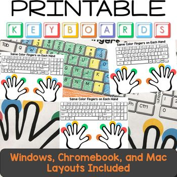 Typing Practice Printable Keyboard Pages | Typing Activities