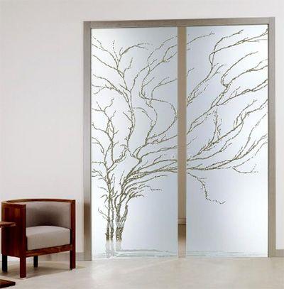 Porta de vidro Jateado Modelos, Fotos