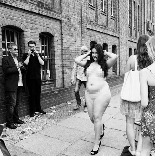Brigitte Model Mariesther for Navabi at Berlin Fashion week - shocking naked