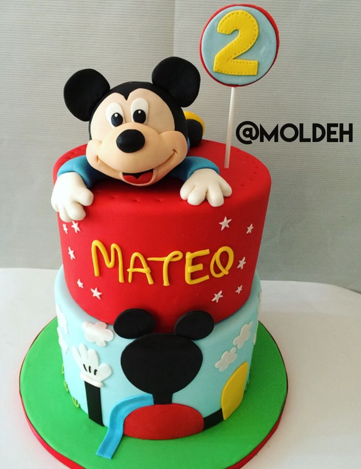 Pastel de Mickey Mouse para Cumple de 2 años // Disney Mickey Mouse birthday cake