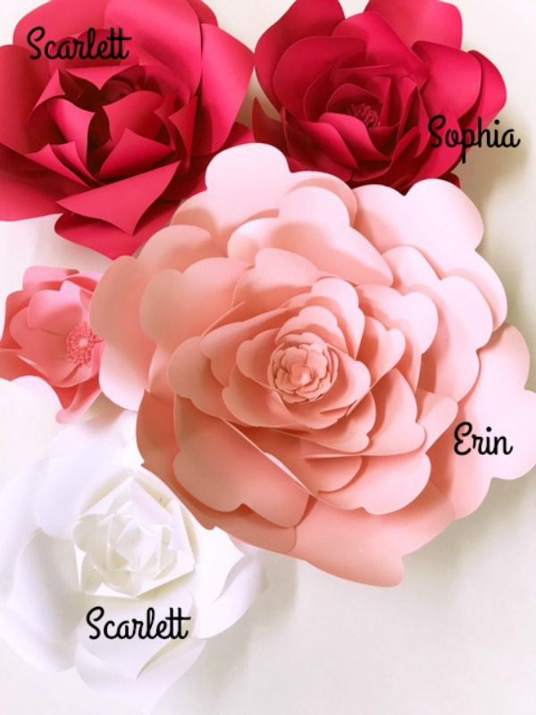 Don't wait to create large paper flowers. These digital PDF files are ready for immediate download. PaperFlora.com PaperFlora Templates
