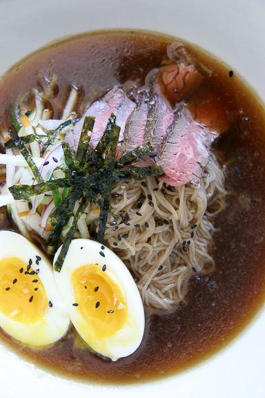 Naengmyun - Korean Cold Beef Noodle Soup