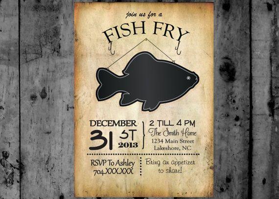 Fish Fry Invitation Printable Party Invitation | Printable ...