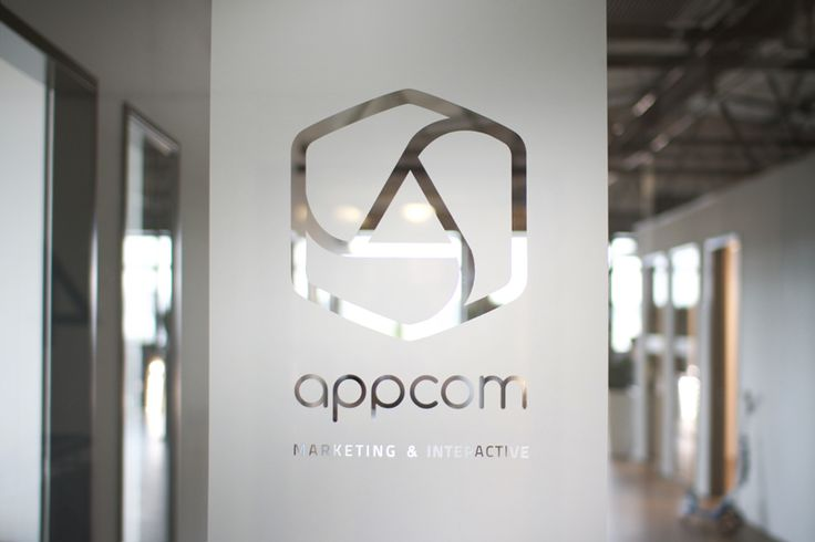 appcom marketing & interactive   office interior design   glass decals   branding   CI