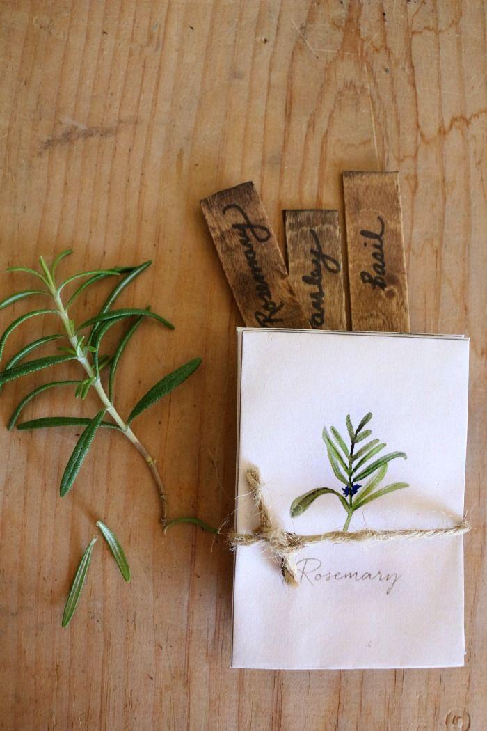 Watercolor seed packet printable