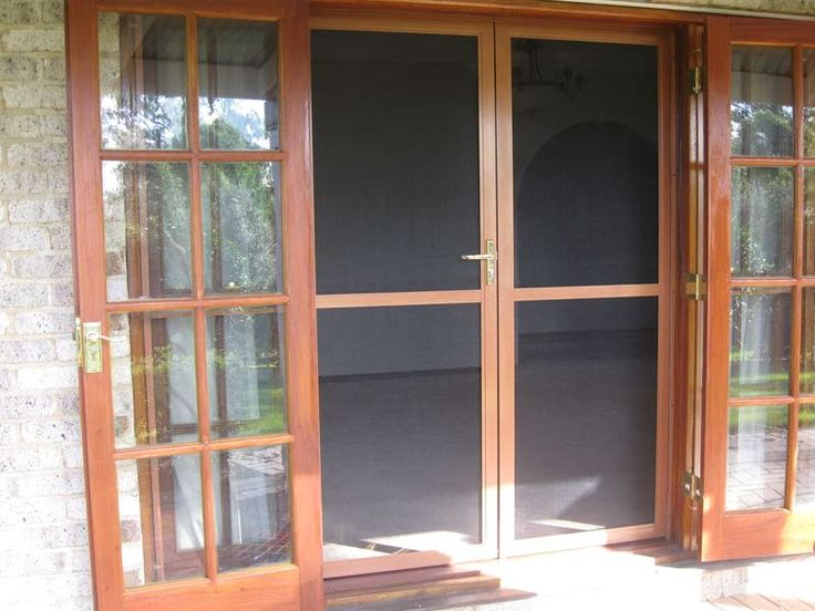 French doors screen door kit insect double door screen for Security screen doors for french doors