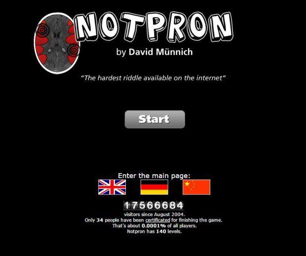 W 2004 roku David Munnich stworzył internetową grę o nazwie Not Pr0n. Łamigłówkę, składającą się ze 140 poziomów, pokonały do tej pory zaledwie 34 osoby. Dlaczego gra jest tak piekielnie trudna?