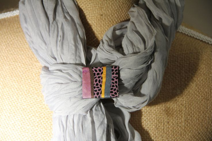 A Rectangular Purple and Gold Scarf Ring by JWoodsCreations on Etsy