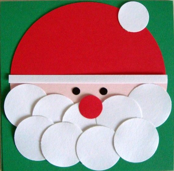 santa using felt circles and half circlesQ