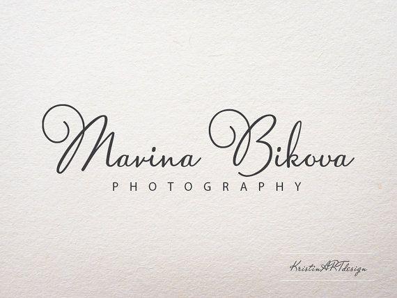 Manuscrito el logotipo, la firma de agua, logotipo de fotografía, Premade diseño…