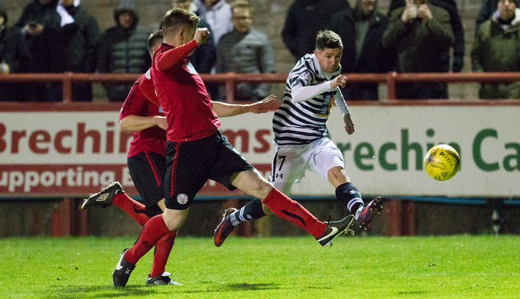 Queen's Park's Paul Woods in action during the Ladbrokes League One game between Brechin City and Queen's Park.