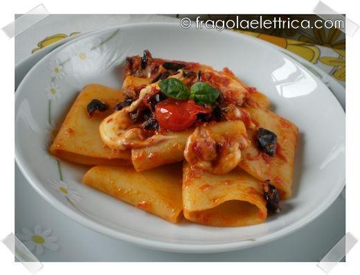 PASTA CON MELANZANE E MOZZARELLA fragolaelettrica.com Le ricette di Ennio Zaccariello #Ricetta