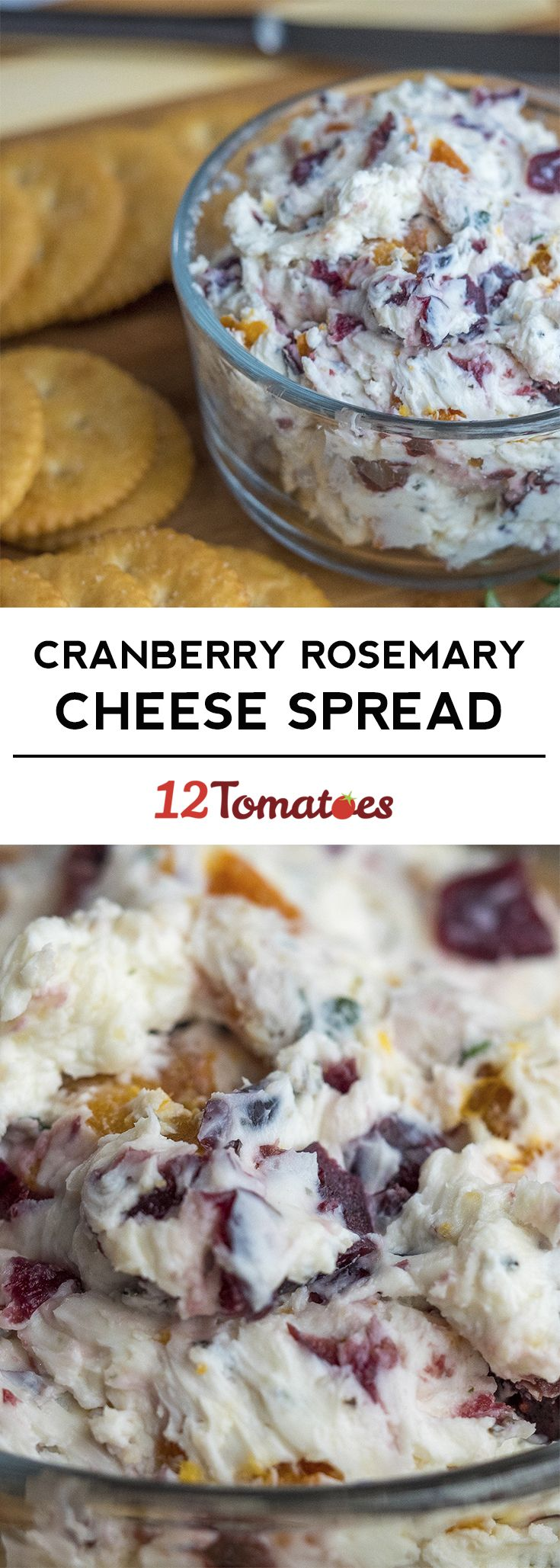 Cranberry Rosemary Cheese Spread - a great appetizer for the holidays!