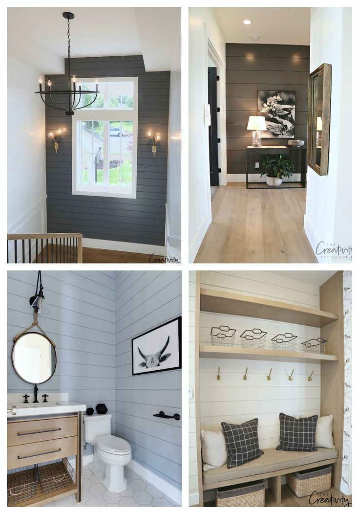 painted shiplap accent walls in rich colors painting on what is a wall id=35098