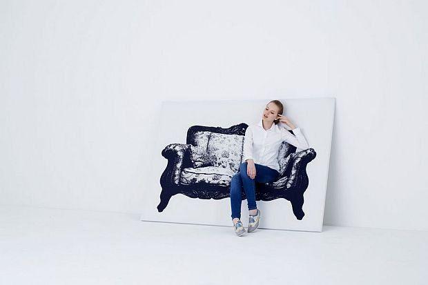Na ramie wykonanej z drewna i aluminium rozpięto elastyczne płótno  - projektanci Naoki Ona i Yuki Yamamoto z grupy YOY-