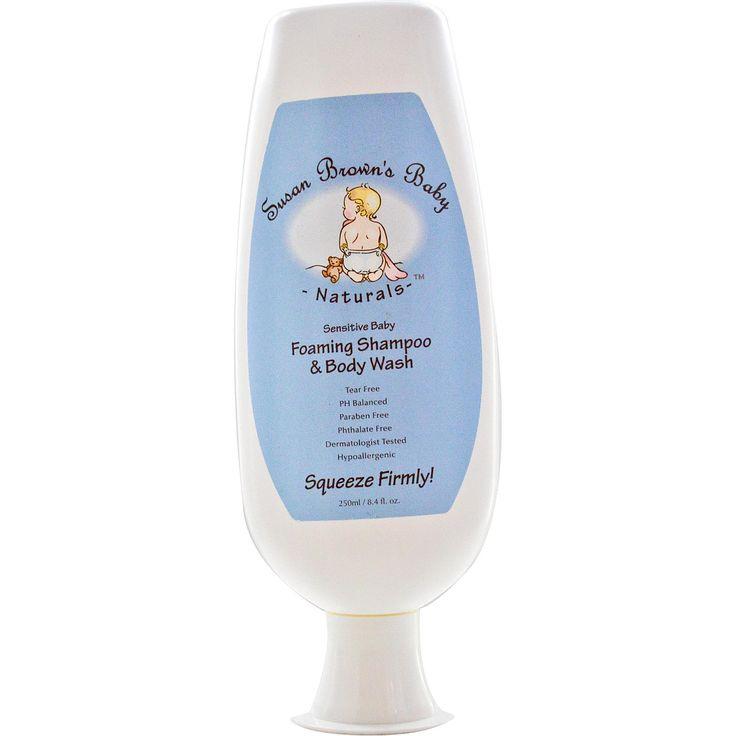 Susan Brown's Baby, Sensitive Baby, Foaming Shampoo & Body Wash, 8.4 fl oz (250 ml) - iHerb.com