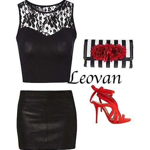 #fashion #red #black