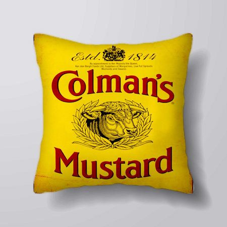 Colmans English Mustard  Advert - Cushion Fabric Panel Or Case or with Filling