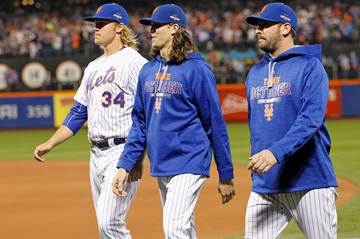 First they replaced him in the hearts of Mets fans — and now Jacob deGrom and Noah Syndergaard are replacing Matt Harvey on the heads of Axe hair-spray users. The two sizzling, wonder-maned starti…