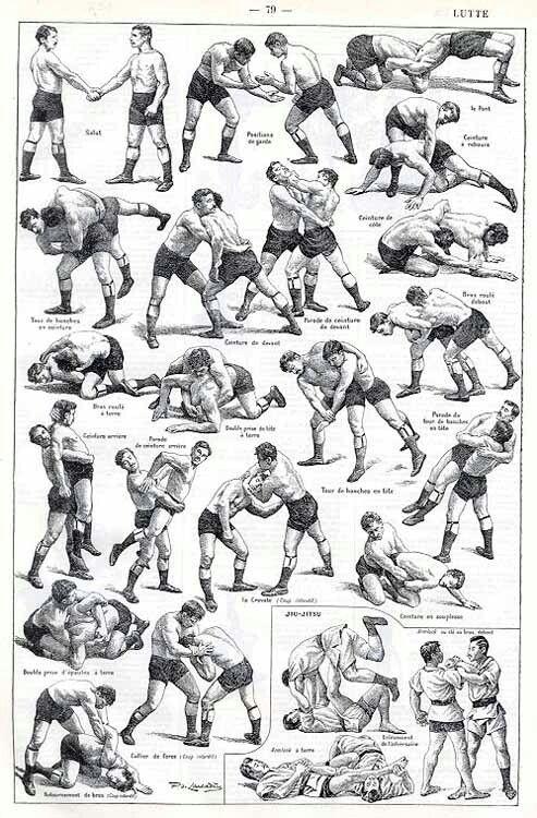 Illustrations of Jiu Jitsu
