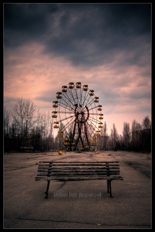Take a seat, have a doze.   Zone of alienation, Pripyat, Chernobyl area. - by Brute-ua