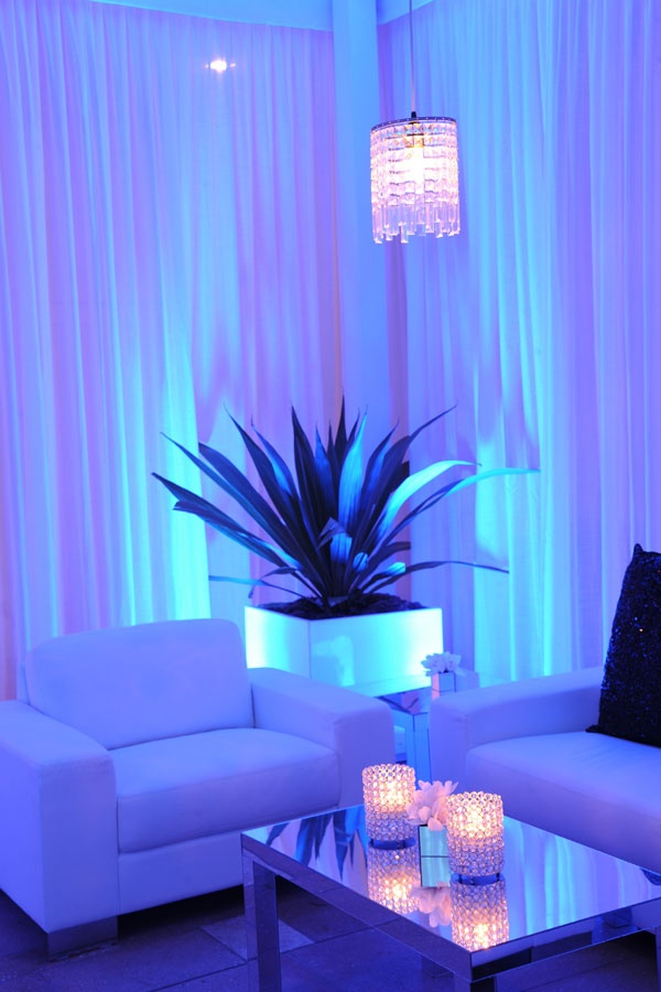 40th Birthday Party Blue Lounge. Weddings by Merryl Brown Events