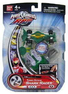 Amazon.com : Power Rangers RPM Turbo Octane Zord Green Shark Racer : Toys And Games : Toys & Games