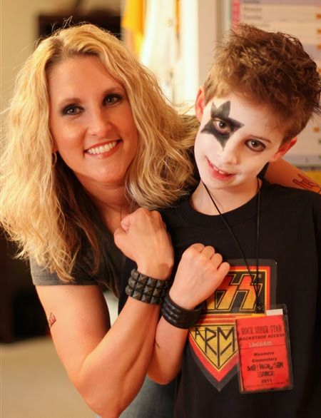My big boy and I rocked out at his elementary school's annual Mother/Son Dance.  This years theme was Rock-n-Roll…complete with backstage ...