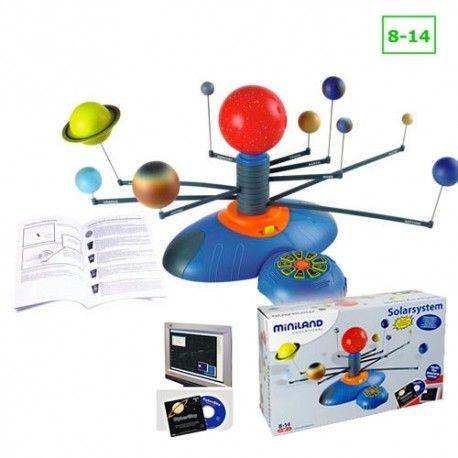 SISTEMA SOLAR. Miniland. Uma forma apelativa de descobrir o nosso sistema solar.  Este modelo demonstra a rotação dos planetas em torno do Sol. É acompanhado por um DVD. Brincar e Aprender. Brinquedos Didácticos para Crianças. http://www.planetadidactico.com/home/82-sistema-solar.html