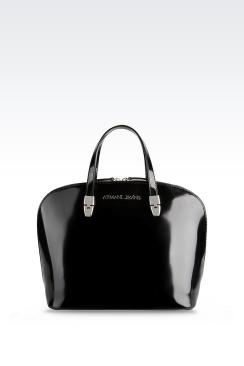 Armani Jeans Women Top Handle - BUGATTI BAG IN BRUSHED LEATHER Armani Jeans Official Online Store