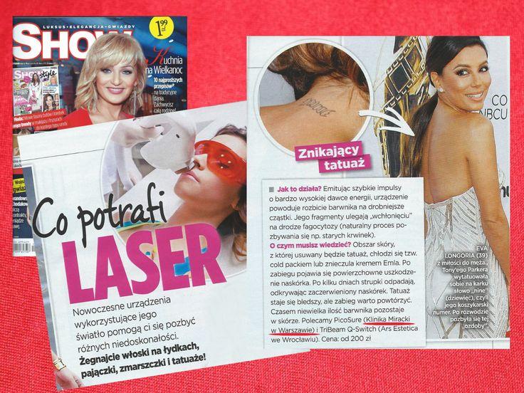Jakie gwiazdy i w jaki sposób usunęły tatuaże zdradza magazyn SHOW! Możemy się domyślać, że korzystały z naszego najnowocześniejszego lasera - PicoSure!