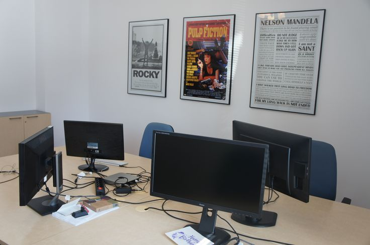 #office #mobileroom #pulpfiction #nelsonmandela #rocky #posters #martela #vintage #openspace #developers
