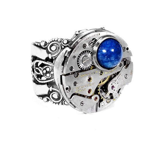 Steampunk Jewelry Steampunk Ring Mens Silver Ring Vintage