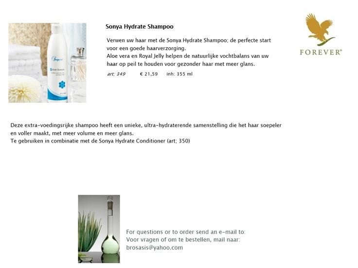 Sonya Hydrate Shampoo; de perfecte start voor een goede haarverzorging. Deze extra-voedingsrijke shampoo heeft een unieke, ultra-hydraterende samenstelling die het haar soepeler en voller maakt, met meer volume en meer glans. Aloe vera en royal jelly  helpen de natuurlijke vochtbalans van uw haar op peil te houden. Aloe vera hydrateert de hoofdhuid en brengt de pH in balans. Royal jelly hydrateert en voedt de hoofdhuid en bevat antioxidanten die de vrije radicalen in uw haar te…