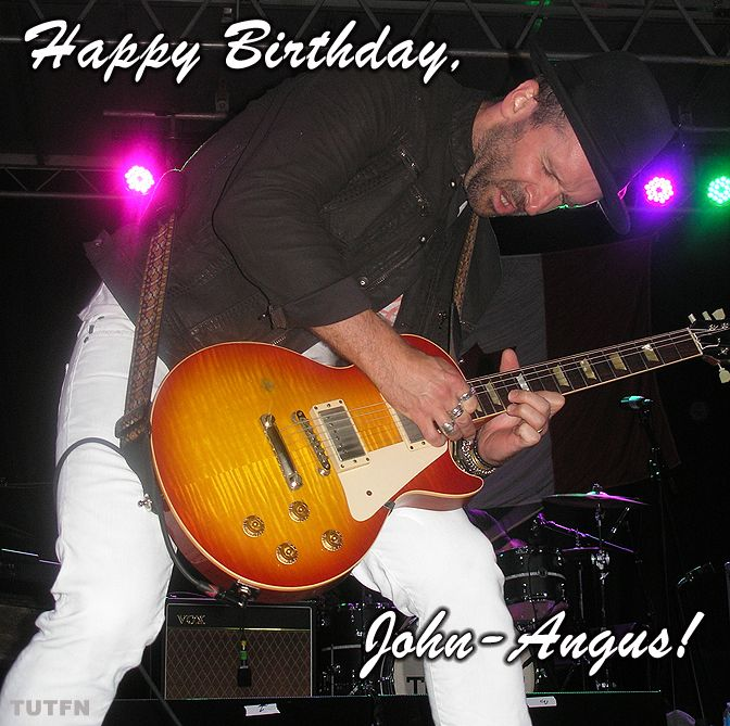 Happiest Birthday to our favouritest guitarist, John-Angus MacDonald of the Trews!