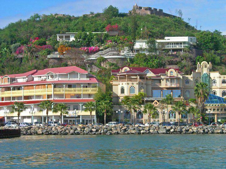 MARIGOT, capital de Saint-Martin, la parte francesa de la Isla de San Martín.