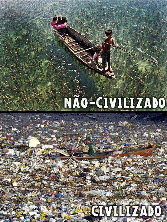 Contaminación del agua civilizado o no?