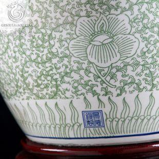 Jingdezhen Céramiques circulaire spécial de grande taille et un réservoir de tortue bocal � poissons koi nucifera Nymphaea tetragona bonsaï en eau peu profonde de cylindre