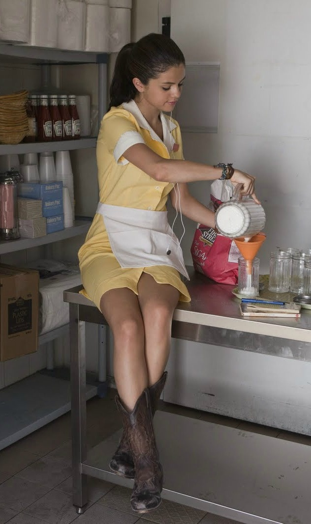 Deana at work at Vito's /such a cute waitress look!