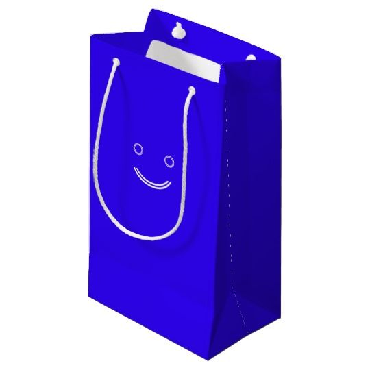 #zazzle #girl  #woman #gift  #giftidea  #Tote #Bag #Blue #Smiley